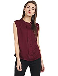 37fac31a3dd77 Suchos Women and Girls Top - Sleeveless - Maroon Colour - Summer  Casual Party Wear