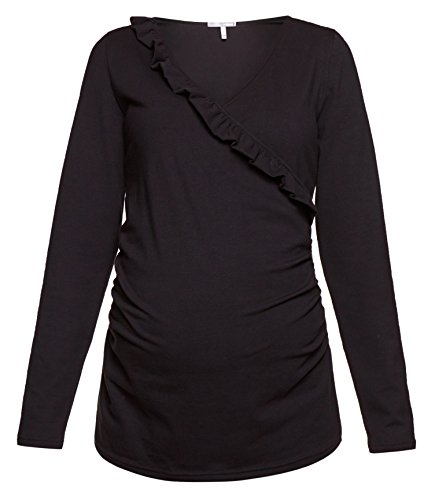 Be! Mama 2in1 Stillshirt, Umstandsshirt , Modell: CALA Schwarz