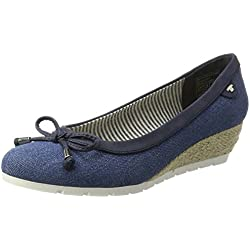 Tom Tailor Damen 2793604 Pumps, Blau (Jeans), 40 EU