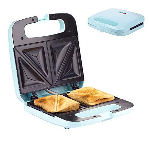 Sandwich Maker Breakfast Sandwich Toaster für 2 American Toasts   Antihaftbeschichtung Heizplatten...
