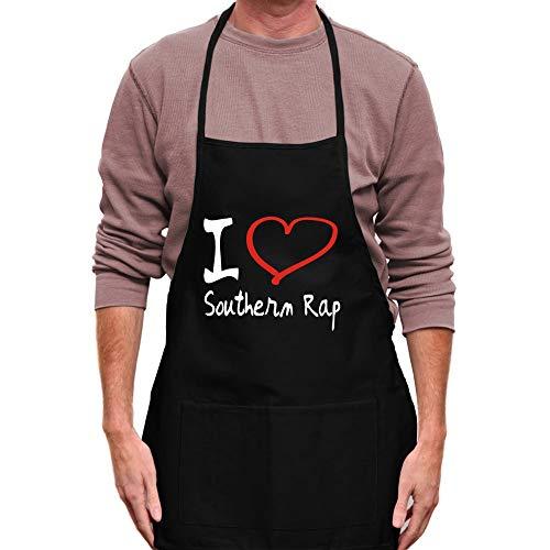 "Teeburon I Love Southern Rap Handmade Style Schürze 24\""breit und 30\"" lang"