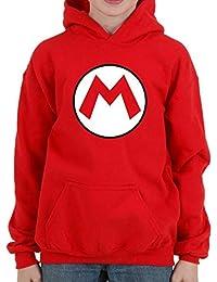 Mario Bros M - Sudadera niño Capucha