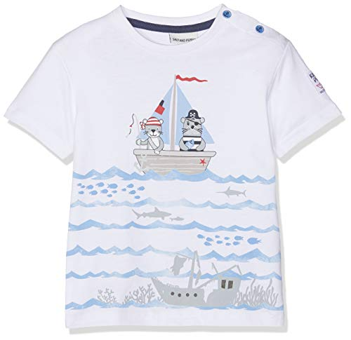 SALT AND PEPPER Baby-Jungen T-Shirt B Pirat Uni Print, Weiß (White 010), 80