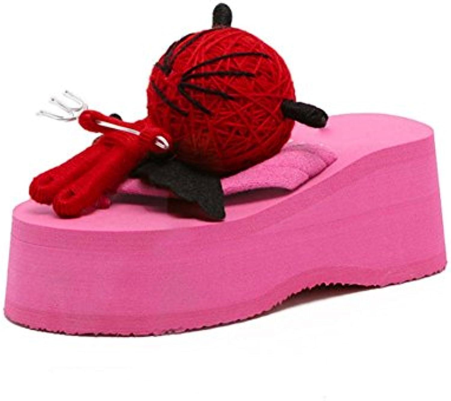 De altura con flip flop sandalias de mujer zapatos cuesta gruesa corteza con sandalias y zapatillas salvajes ,...