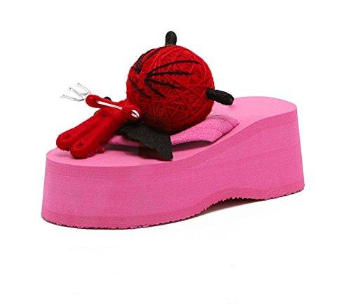 Hoch mit weiblichen Sandalen Flip-Flops Schuhe dicken Kruste Hang mit Sandalen und Pantoffeln Wild US7.5 / EU38 / UK5.5 / CN38
