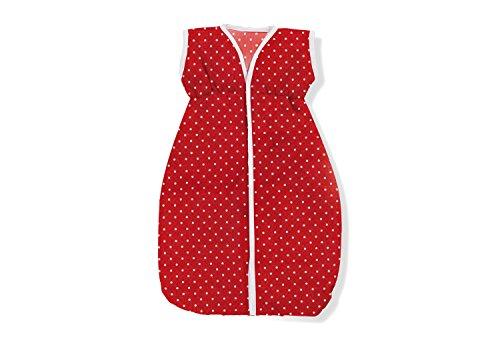 Pinolino 256584-5 - Puppenschlafsack, rot pünktchen