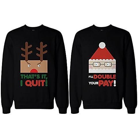 Par Sudaderas–Rudolph y Santa–divertido gráfico suéteres de Navidad