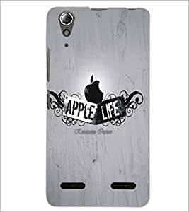 PrintDhaba Apple D-5465 Back Case Cover for LENOVO A6000 (Multi-Coloured)