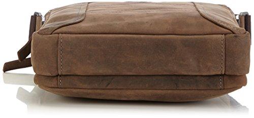 Strellson Hunter ShoulderBag L 4010001454 Herren Schultertaschen 23x28x6 cm (B x H x T) Braun (dark brown 702)