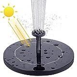 VITCOCO Fuente Solar, 2.1 W Kit Bomba Agua Solar, Fuente Solar Jardin con 6...