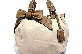Styles By Emporium Bessie Couture Cream Bow Bag