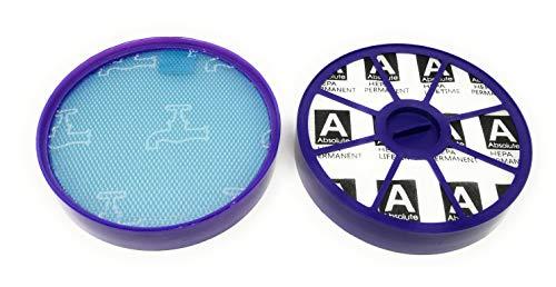 Allergie Juego de filtros HEPA para Dyson DC19DC20DC21DC29Antes + Después de motor