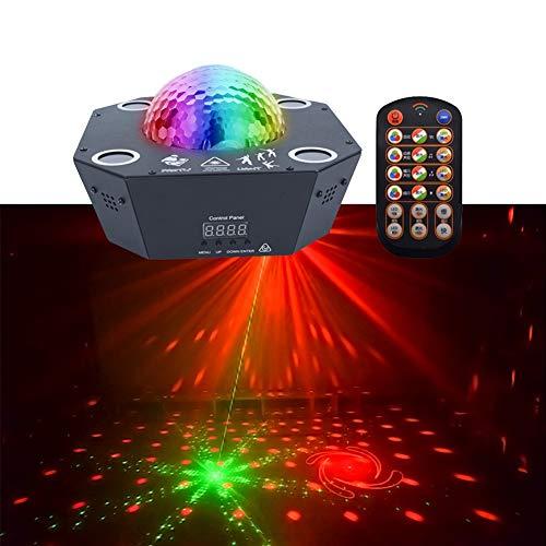 Disco Ball Lampen 4 Kanäle Fernbedienung Sound Aktiviert Bühnenbeleuchtung 25 Watt RGBW Beleuchtung Party Lichter for Weihnachtsgarten Dekorationen Halloween Urlaub Party Hochzeit Rasen Dekoration - Disco-halloween-party-dekorationen