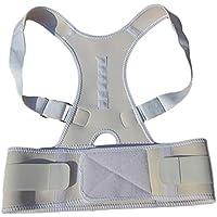 GAOHAILONG Cinturón De Corrección Estudiante Niño Adulto Cinturón De Confort Ajustable Prevención De Corrección De Joroba Simple, Gris,S