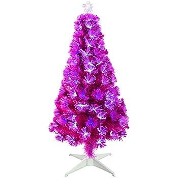 vibrant pink fibre optic christmas tree with white led lights 4 ft - Mini Pink Christmas Tree