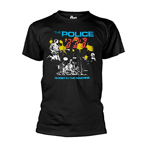 The Police Ghost in The Machine Live Sting Oficial Camiseta para Hombre (XX-Large)
