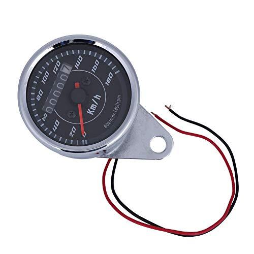 Keenso Universal Motorrad Kilometerzähler Tachometer Doppelt Farben LED Licht Entfernungsmesser Geschwindigkeitsmesser km/h