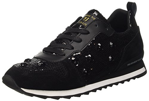 Trussardi Jeans 79S21451, Scarpe Low-Top Donna, Nero, 41 EU