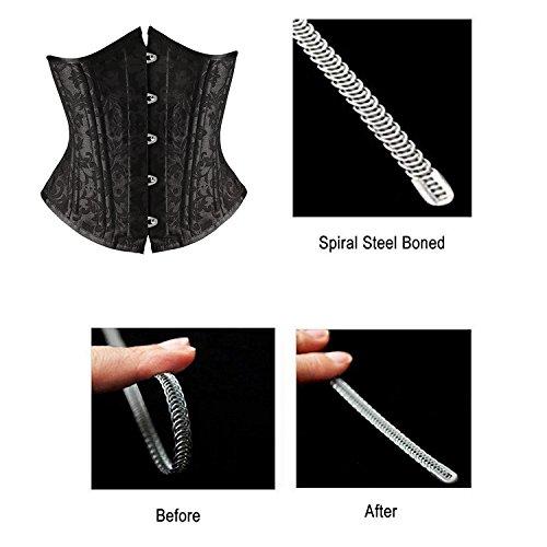 beitreten Damen Vintage Stil Korsett Taille Ausbildung Korsett Body Shaper Schwarz