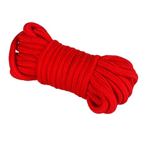 Ultnice morbido cotone corda 5m intrecciato cavo (rosso)
