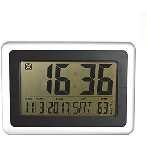 Hippih Big LCD Digital Alarm parete orologi elettronici Orologi Cancella Grandi Cifre display montaggio a parete Desk Clock per Camera Ufficio Decor