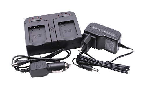 Schnellladegerät Ladegerät Ladeschale dual 2-Fach inkl Kfz für Akku EN-EL12 wie Nikon CoolPix AW130, S9900 (S70 Nikon Coolpix)