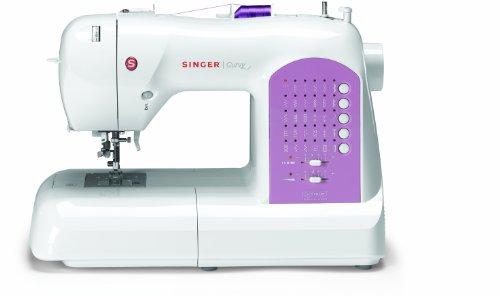 Singer Curvy 8763 - Máquina de coser electrónica, 30 puntadas, color blanco