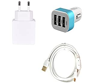 High Quality 1.0 Amp USB Charger, Fast Charging USB Cable, 3 Jack USB Car Cha...