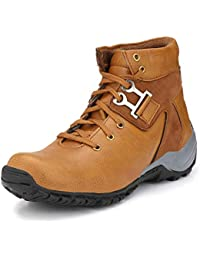 Chokas Men's Tan Synthetic Leather Boots