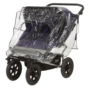 Playshoes Regenverdeck / Regenschutz für Zwillingswagen / Kinderwagen mit Direkt-Kontakt-Fenster, wie neu