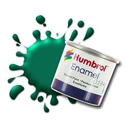 Humbrol AA0326 14ml No. 1 Tinlet Enamel Paint 30 (Dark Green Matt)