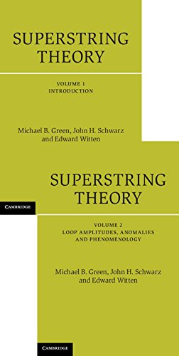 Superstring Theory 2 Volume Hardback Set 2 Hardback books (Cambridge Monographs on Mathematical Physics) por Green