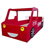 Homestyle4u Doppelbett in Fire Truck Design, Holz, rot, 98 x 205 x 60 cm - 3