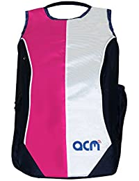 "Acm Premium Laptop Backpack Padded Bag For Dell Inspiron 5555 15.6"" Laptop Pink"