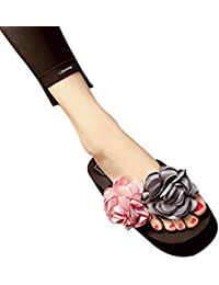 Yoocang Damen Elegante Blume Böhmen Plattform Keil Sommer Hochzeit Hausschuhe Flip Flops Strand Thongs Rutschfeste Zehentrenner PmIxYkb