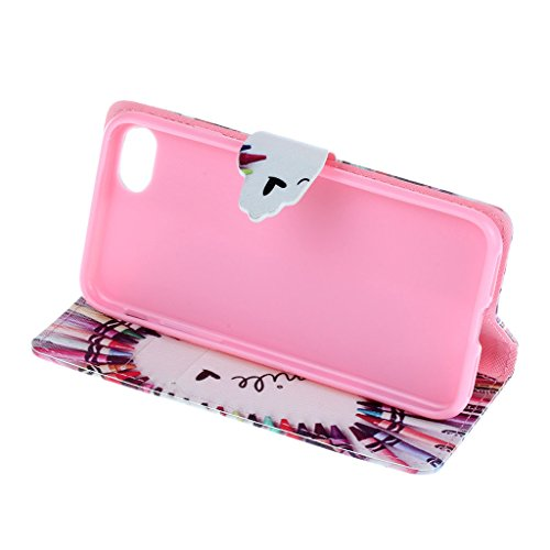 CareyNoce Apple iphone 7 Plus Coque,Flip Housse Etui Cuir PU Coque pour Apple iPhone 7 Plus (5.5 pouces) -- Léopard #1 T39