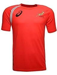 ASICS - Camiseta de Entrenamiento Jugadores Springboks Sudáfrica Edición Limitada - Naranja, XXXL