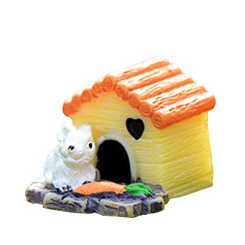 LAMEIDA Jardin Féérique Miniature Maison de Lapin Ornement Dollhouse Pot de Fleurs Figurine DIY Craft pour Jardin extérieur Décoration de Maison 2.2 * 2.3 cm, Résine, Rabbit House, 2.2 * 2.3cm
