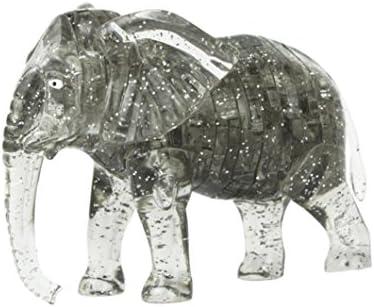 Momola Momola Momola 3D cristal puzzle mignon éléphant modèle DIY gadget blocs construction jouet cadeau collection (Gris) c2b00e