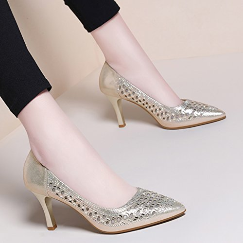 5983e586076461 Chaussures Femme Hwf Printemps Chaussures Simples Femme Sandales Ajourées  Eté Noir Chaussures À Talons Hauts ...