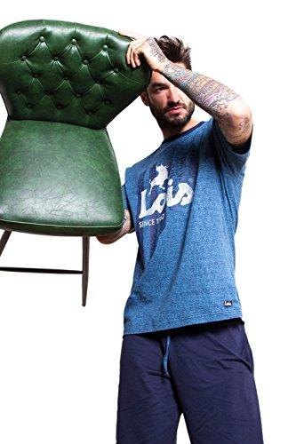 Lois Herren Schlafanzug Jeansblau