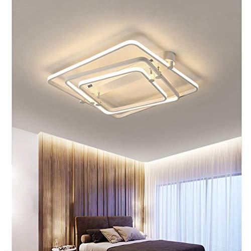 HUAQIMEI Moderne Kreative Deckenleuchten Für Schlafzimmer, Dimmbare Deckenlamp Mit Fernbedienung, Küche Esszimmer Acryl Lampenschirm Flur Esstisch Lampe Deco Lampe -