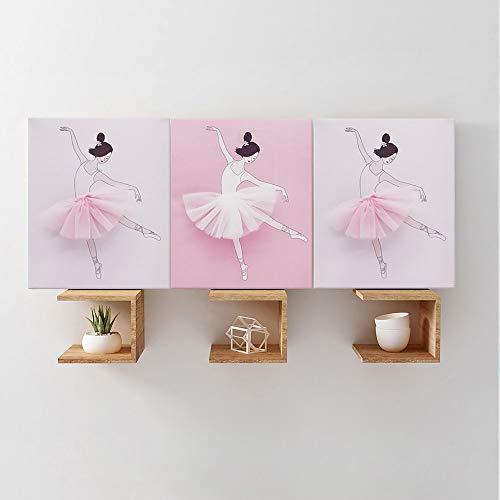 Yaoaoden wasserdichte Ballett-Mädchen-PVC-Aufkleber-Selbstklebe-entfernbare Wand-Aufkleber Mehrfarben NWBD268