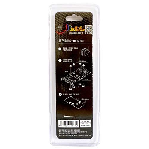Dergtgh 8pcs / Set Kupfer-Kühlkörper zurück Heatsink Cooler Ersatz für VGA GPU DDR DDR2 DDR3 RAM-Speicher-IC-Chipsatz Kühlung -