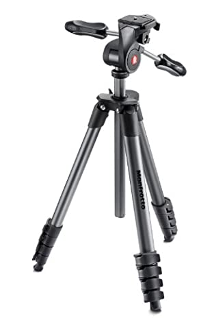 Manfrotto Compact Advanced Kit de Trépied + Rotule 3D 5 Sections Noir