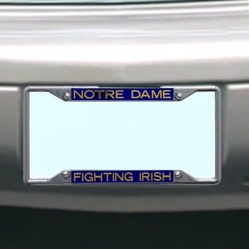 Irish Chrome License Plate Frame (NCAA Notre Dame Fighting Irish Nummernschild Rahmen)