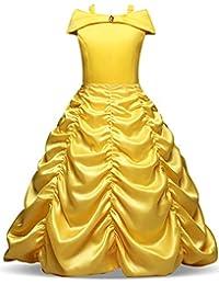 NNJXD Mädchen Belle Kostüme Karneval Verkleiden Sich Prinzessin Halloween Party Kleider