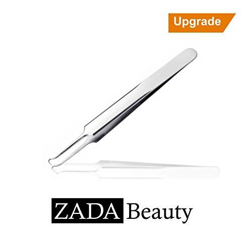 Original ZADA Beauty Mitesserentferner aus chirurgischem Edelstahl - Zecken-entferner Pickel-Entferner Blackhead Tweezer Gebogene Nadel