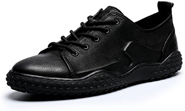 GAOLIXIA Hombre Zapatillas Zapatos de cuero clásicos Zapatos planos ocasionales Zapatillas de skate para estudiantes...