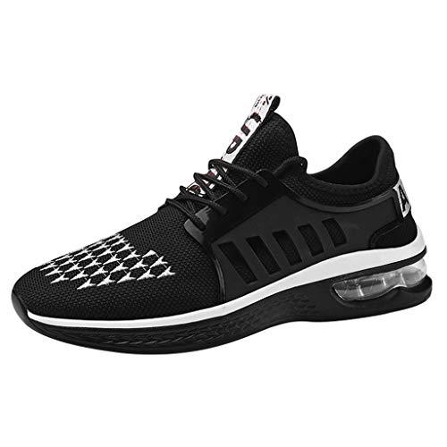 CUTUDE Herren Sneakers Mesh Sportschuhe Leichte Atmungsaktive Sportliche Laufschuhe Running Fitness Outdoors Athletisch - Schwarz Rot 39-44 (Weiß, 39 EU) Olympus Pins